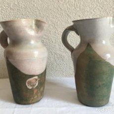 Antigüedades: JARRAS ANTIGUA DE TXAKOLI,IDEAL COLECCIONISTAS DE CERÁMICA VASCA. Lote 255648305