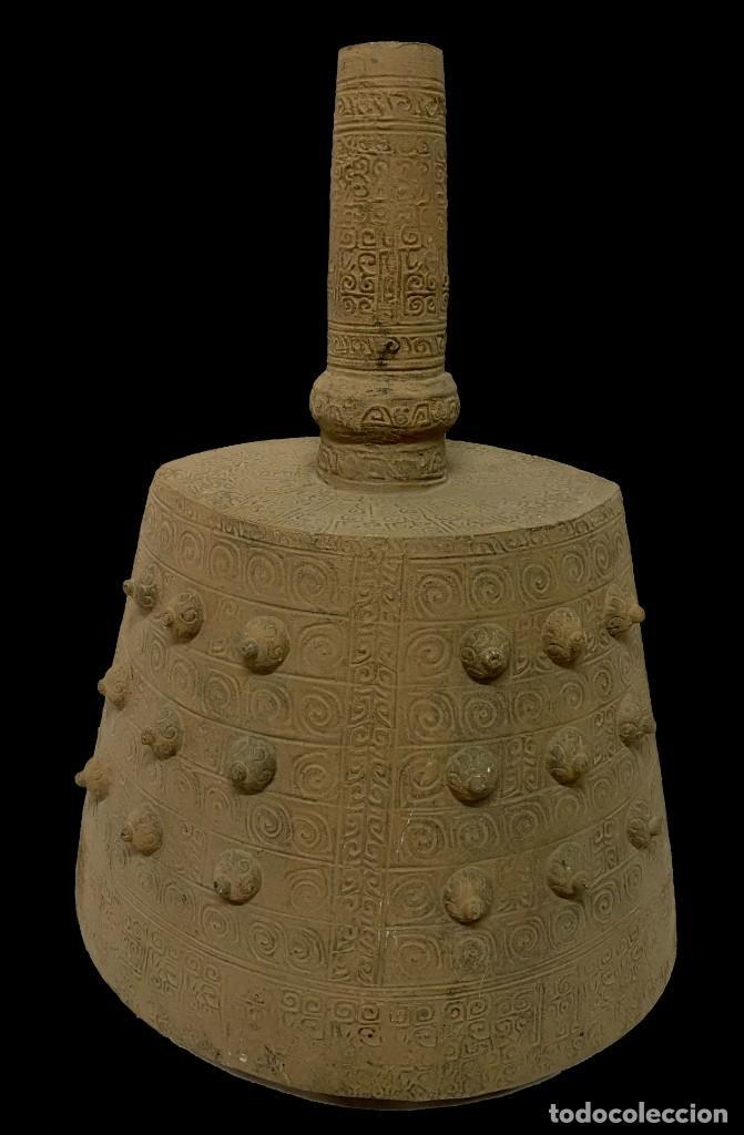 Antigüedades: Antigua terracota china , dinastía Tang (618DC-907DC). Campana fúnebre. - Foto 2 - 255652365