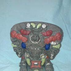Antigüedades: BELLO INCENSARIO MAYA O AZTECA ARTESANÍA DE CERÁMICA DE MÉXICO. Lote 255666260