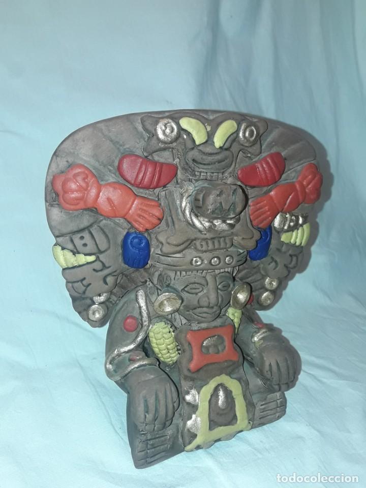 Antigüedades: Bello incensario Maya o Azteca artesanía de cerámica de México - Foto 2 - 255666260