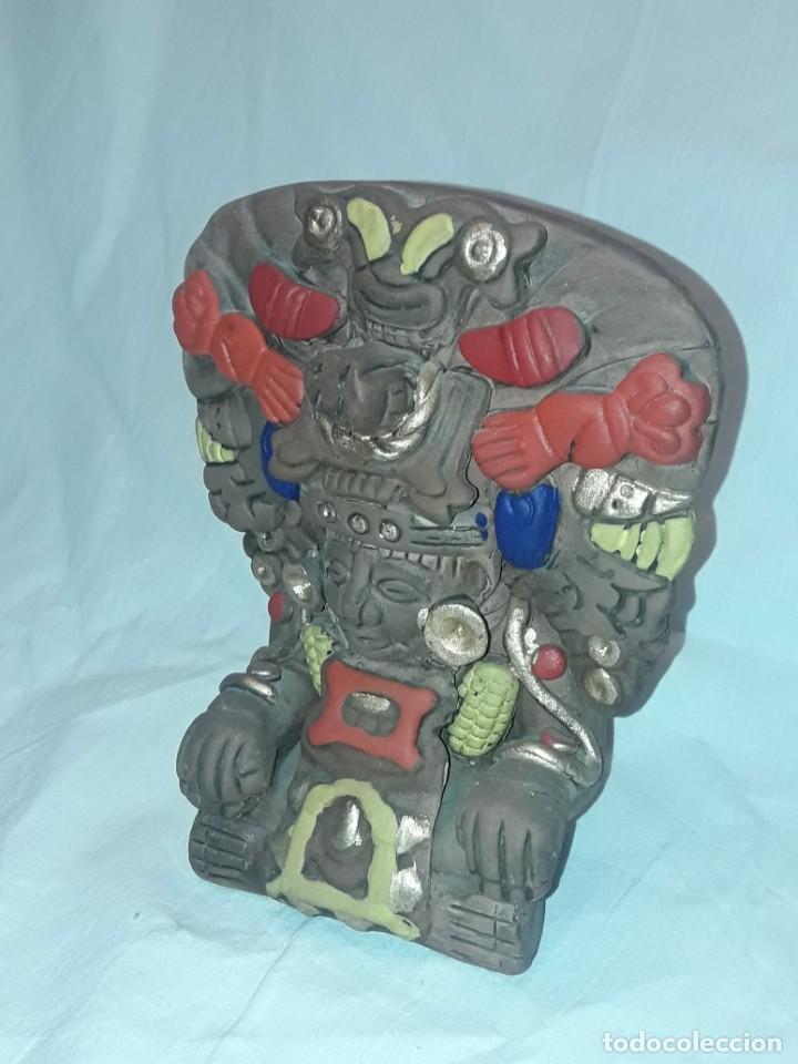Antigüedades: Bello incensario Maya o Azteca artesanía de cerámica de México - Foto 4 - 255666260