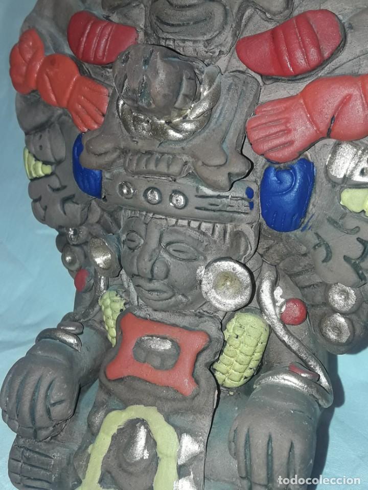 Antigüedades: Bello incensario Maya o Azteca artesanía de cerámica de México - Foto 5 - 255666260