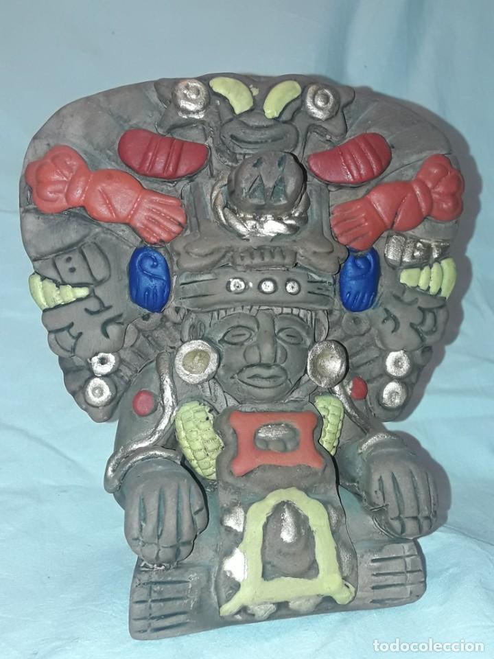 Antigüedades: Bello incensario Maya o Azteca artesanía de cerámica de México - Foto 7 - 255666260