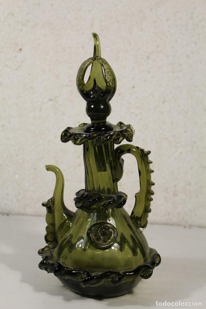 JARRA EN CRISTAL MALLORQUÍN PPIOS. SIGLO XX (Antigüedades - Cristal y Vidrio - Mallorquín)