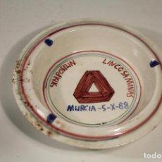 Antigüedades: CENICERO LARIO - SYMPOSIUN LINCOSAMINAS - MURCIA 1988. Lote 255921805
