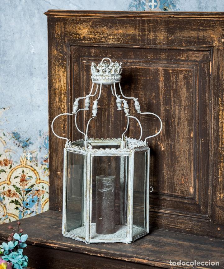 FAROL ANTIGUO DE METAL (Antigüedades - Hogar y Decoración - Portavelas Antiguas)