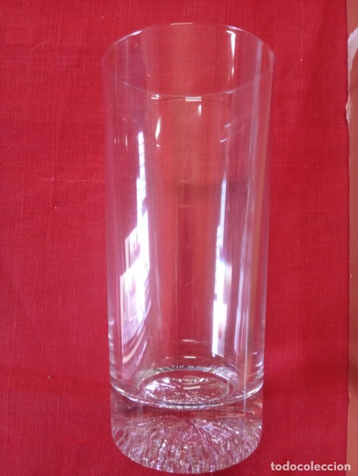 Antigüedades: 6 vasos lagos de cristal emplomado en su caja sin uso. - Foto 2 - 255940750