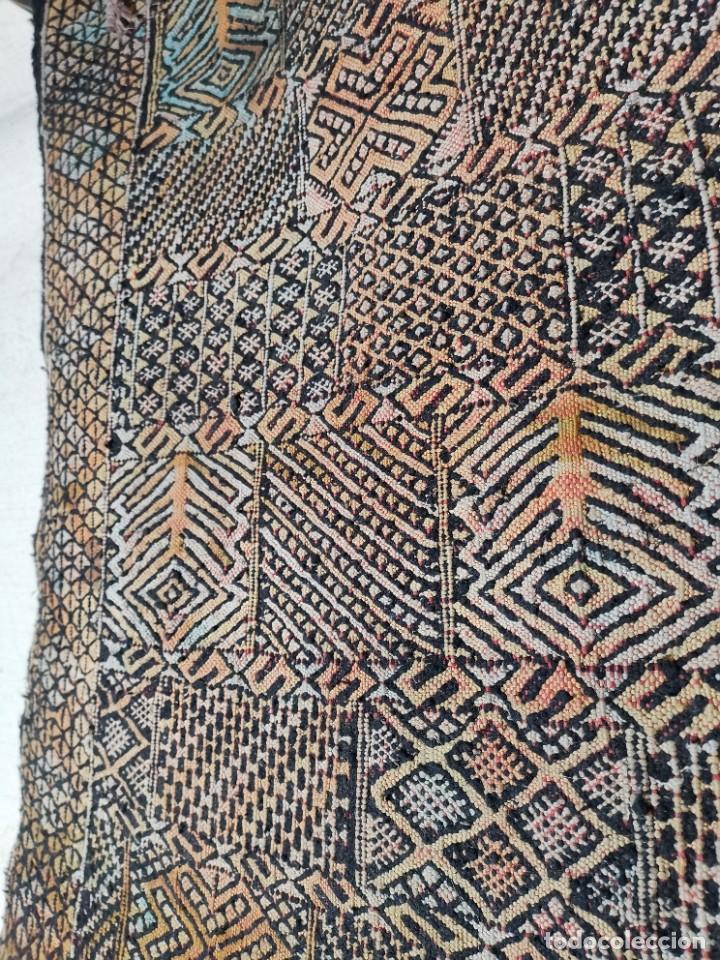 Antigüedades: KILIM TAPIZ BEREBER-ALFOMBRA- AÑOS 30 ORIGINAL HANDMADE 127 X 250 --------------REF-MO - Foto 17 - 255943470