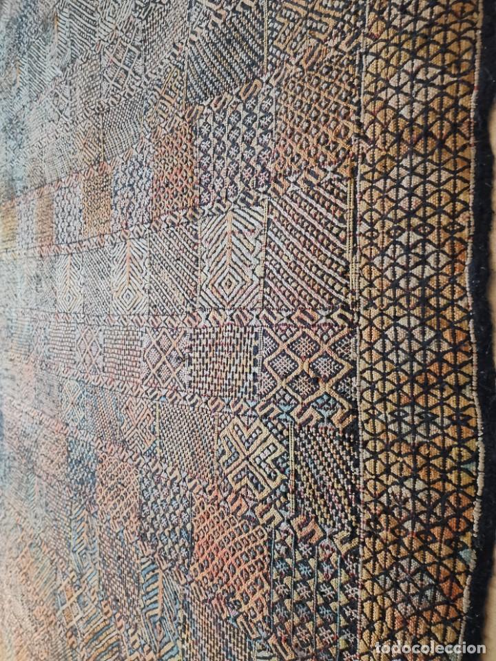 Antigüedades: KILIM TAPIZ BEREBER-ALFOMBRA- AÑOS 30 ORIGINAL HANDMADE 127 X 250 --------------REF-MO - Foto 27 - 255943470