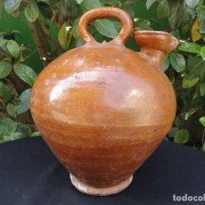 Antigüedades: ALFARERÍA CATALANA: GRAN BOTIJO ACEITE BAIX LLOBREGAT. Lote 255947795