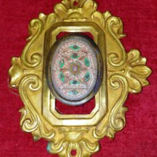 Antigüedades: ANTIGUO RELICARIO. CON RELIQUIAS DE 9 SANTOS. CON SELLO DE LACRE. EUROPA. SIGLO XIX. Lote 255949535