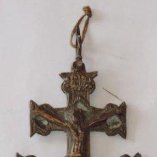 Antigüedades: CRUZ DE CALATRAVA EN BRONCE FINALES DE S.XVIII / PRINCIPIOS DEL XIX, MEDIDAS 18 X 9 CMS. MUY RARA, P. Lote 255951665