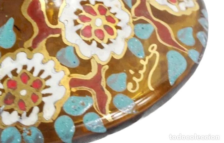 Antigüedades: Gran y único jarrón en cristal soplado y esmaltado. Genís Cirera. (1890-1970) 22x19cm - Foto 4 - 248222705