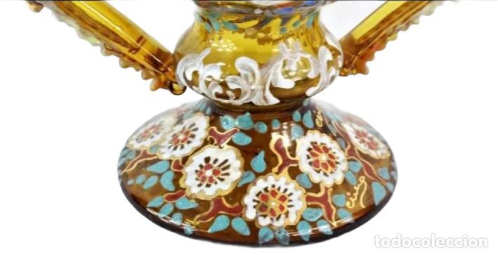 Antigüedades: Gran y único jarrón en cristal soplado y esmaltado. Genís Cirera. (1890-1970) 22x19cm - Foto 7 - 248222705