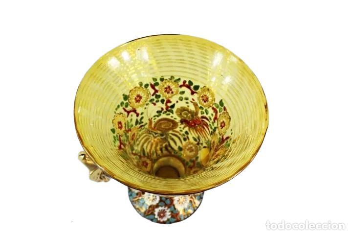 Antigüedades: Gran y único jarrón en cristal soplado y esmaltado. Genís Cirera. (1890-1970) 22x19cm - Foto 9 - 248222705