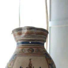 Antigüedades: UNICO Y PRECIOSO AGUAMANIL DEL SIGLO XVIII, CERAMICA DE TRIANA, IMPRESIONANTE, ALTURA 36 CENTÍMETROS. Lote 255985400