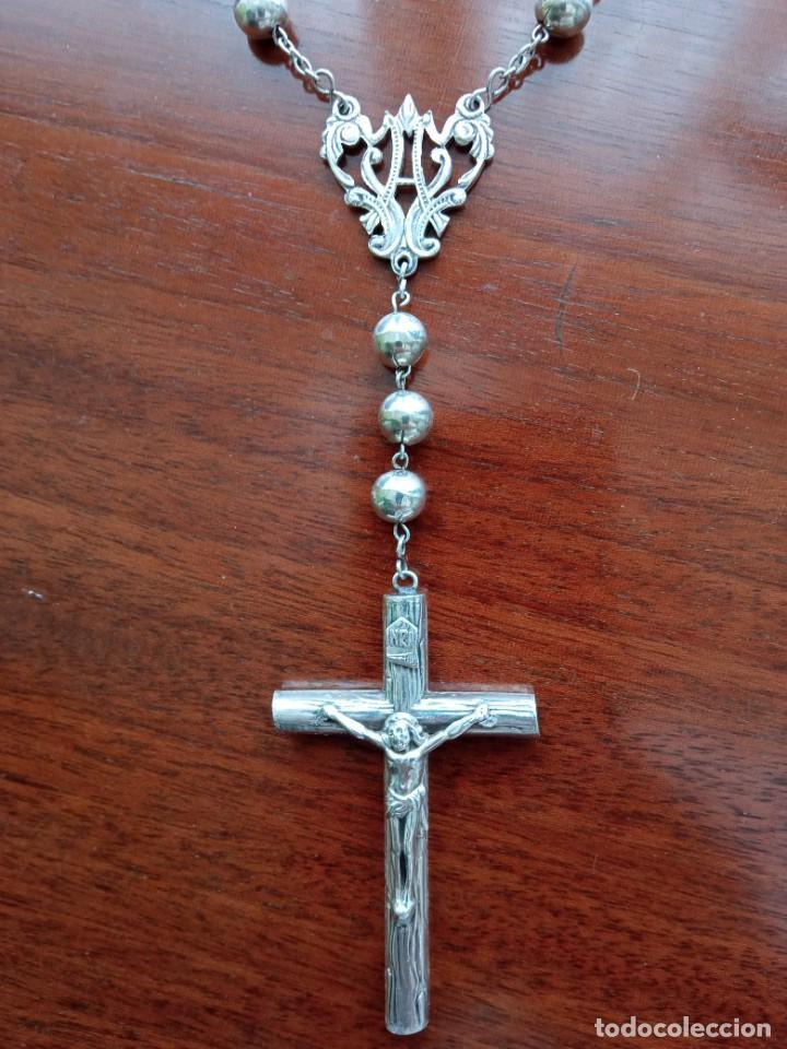 Antigüedades: Rosario de plata - Foto 4 - 256000875