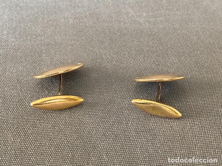 Antigüedades: Bernhard Hertz 14-karat yellow gold cufflinks , gemelos de oro de 14 quilates , DINAMARCA - Foto 2 - 256002855