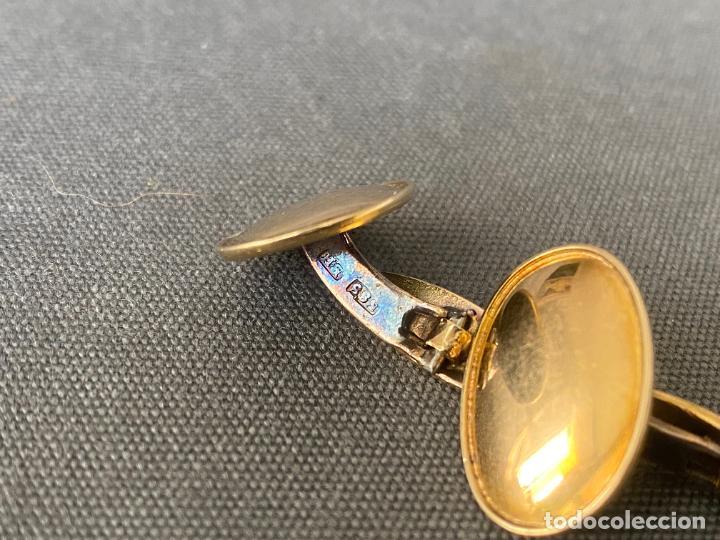 Antigüedades: Bernhard Hertz 14-karat yellow gold cufflinks , gemelos de oro de 14 quilates , DINAMARCA - Foto 3 - 256002855