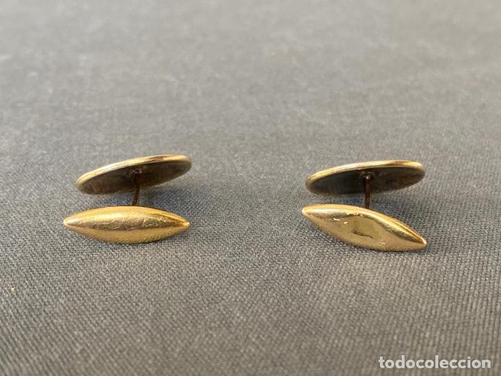 Antigüedades: Bernhard Hertz 14-karat yellow gold cufflinks , gemelos de oro de 14 quilates , DINAMARCA - Foto 5 - 256002855