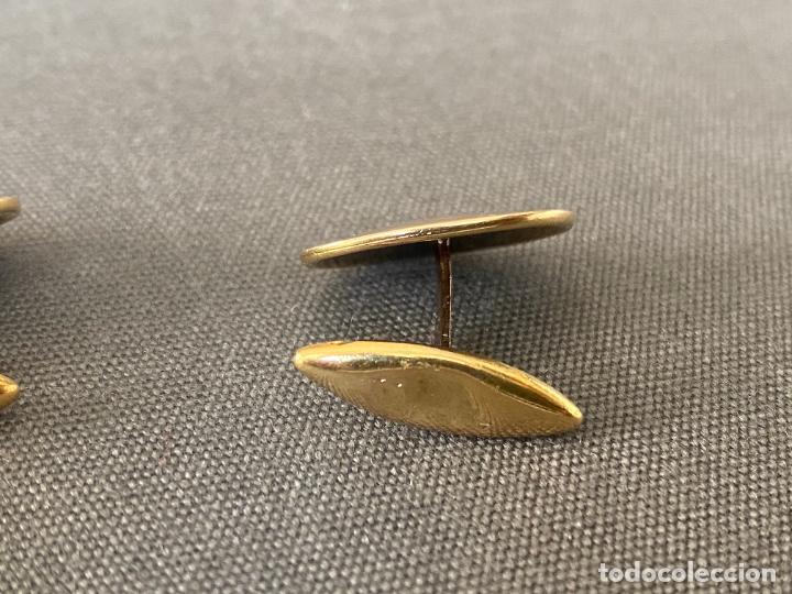 Antigüedades: Bernhard Hertz 14-karat yellow gold cufflinks , gemelos de oro de 14 quilates , DINAMARCA - Foto 6 - 256002855