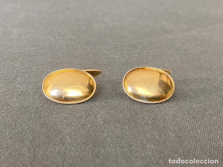 Antigüedades: Bernhard Hertz 14-karat yellow gold cufflinks , gemelos de oro de 14 quilates , DINAMARCA - Foto 8 - 256002855