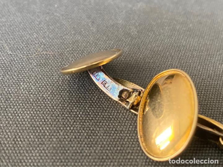Antigüedades: Bernhard Hertz 14-karat yellow gold cufflinks , gemelos de oro de 14 quilates , DINAMARCA - Foto 9 - 256002855
