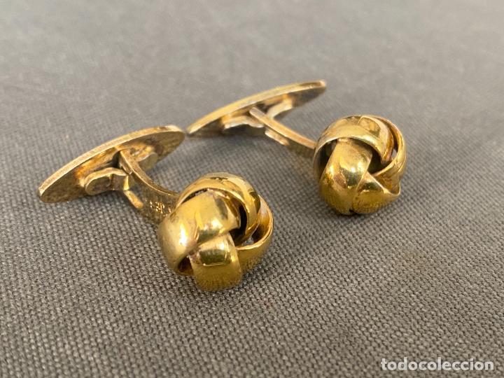 Antigüedades: Bernhard Hertz SILVER VERMEIL cufflinks , gemelos de plata dorada , DINAMARCA , 830S - Foto 2 - 256004320