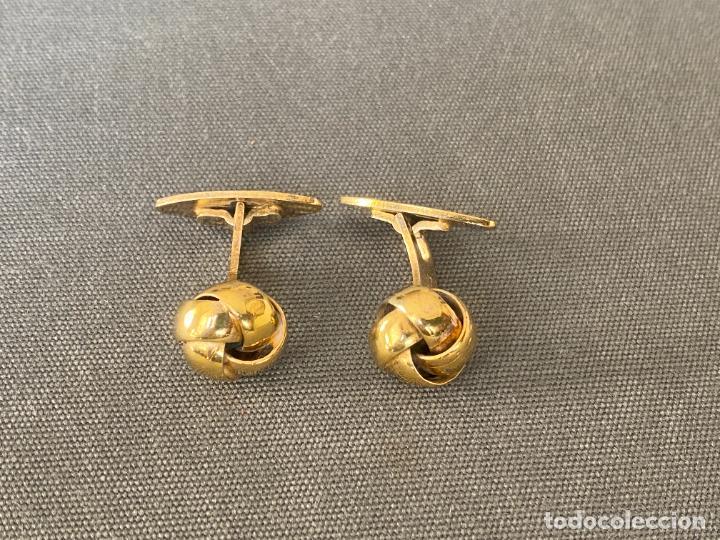 Antigüedades: Bernhard Hertz SILVER VERMEIL cufflinks , gemelos de plata dorada , DINAMARCA , 830S - Foto 3 - 256004320