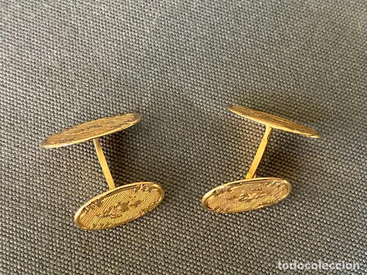 Antigüedades: L B EXCLUSIVE cufflinks , gemelos de ORO DE 14 QUILATES , 585 KARAT CUFFLINKS - Foto 6 - 256006570