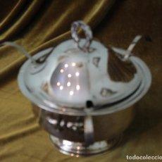 Antigüedades: SOPERA SALSERA DE ALPACA PLATEADA.. Lote 256020635