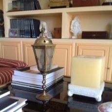 Antigüedades: ANTIGUO FAROL DE ALTAR O CARRUAJE. ENGLAND.. Lote 256035470