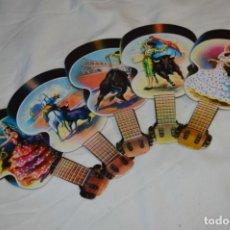 Antigüedades: MODELOS DIFERENTES / DETALLES TAURINOS Y FLAMENCOS - 5 PAI PAI / REVERSO CON PUBLICIDAD ¡MIRA FOTOS!. Lote 256040190