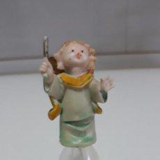 Antigüedades: ANTIGUA CAMPANILLA CRISTAL CON ANGELITO 11 CM DE ALTO ARTE BLANC ITALIA. Lote 256046055