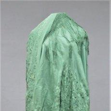 Antigüedades: ANTIGUO MANTON DE MANILA DE SEDA. CHINERIAS. SIGLO XIX. Lote 256052820