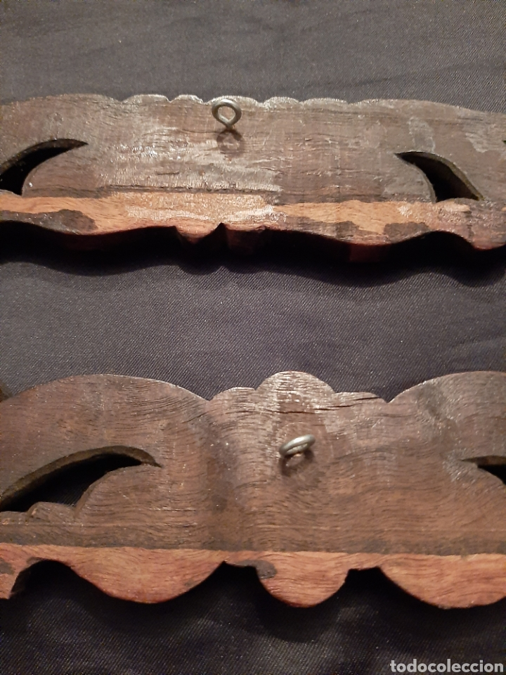 Antigüedades: 2 molduras antiguas talladas - Foto 6 - 256061720