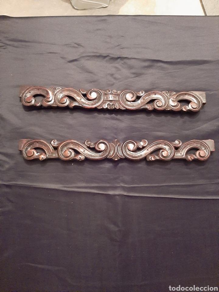 Antigüedades: 2 molduras antiguas talladas - Foto 4 - 256061720