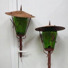 Antigüedades: FAROLES DE JARDIN. Lote 256098030