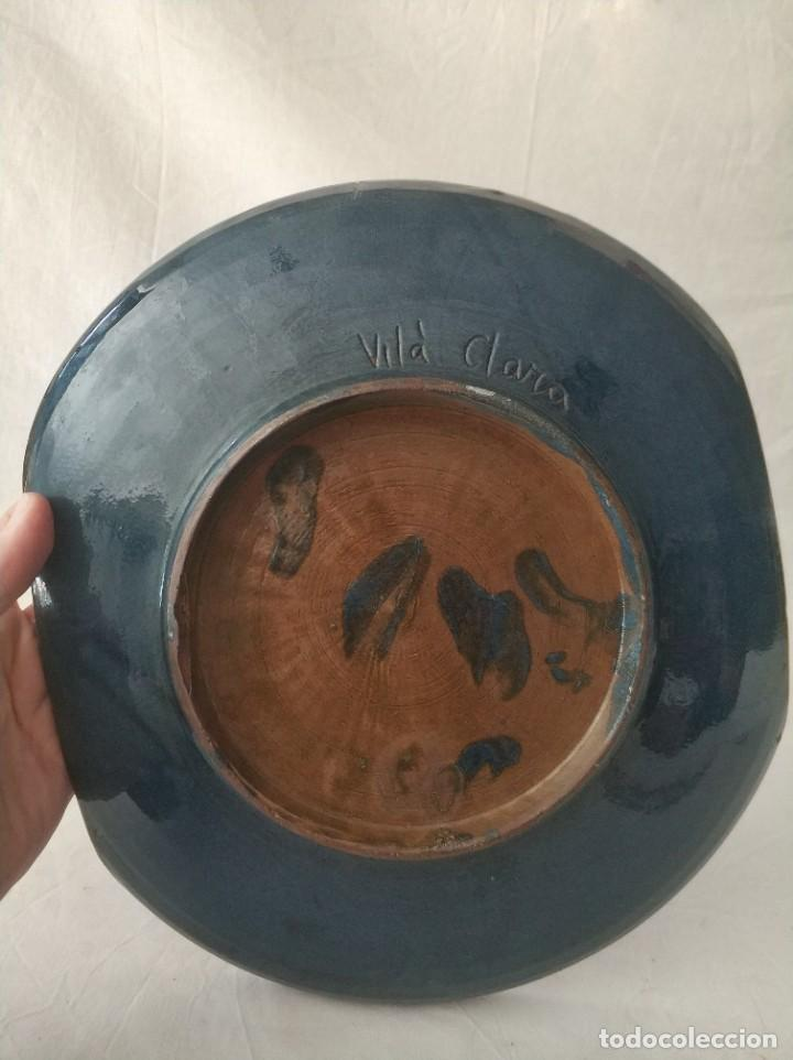 Antigüedades: Bonito plato ceramica motivos florales de Vila Clara - Foto 2 - 256100800