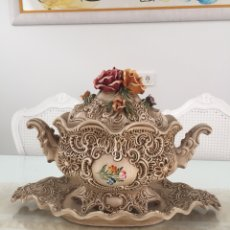Antigüedades: ANTIGUA SOPERA DE CERÁMICA -CENTRO DE MESA. Lote 256114945