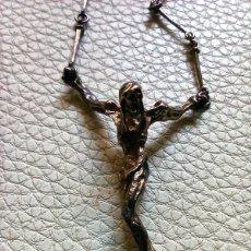 Antigüedades: CRISTO DE PLATA - SAN JUAN DE LA CRUZ - MODELO DALÍ. Lote 256124485