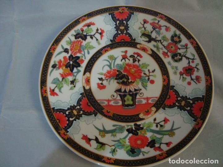 ANTIGUO PLATO DE PORCELANA CHINA, FLORES 25CM. (Antigüedades - Porcelanas y Cerámicas - China)