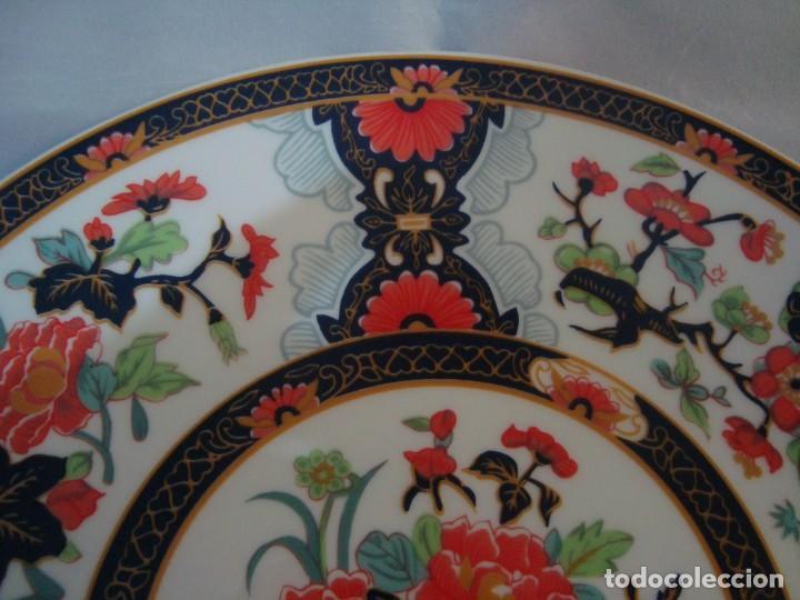 Antigüedades: ANTIGUO PLATO DE PORCELANA CHINA, FLORES 25CM. - Foto 4 - 256130710