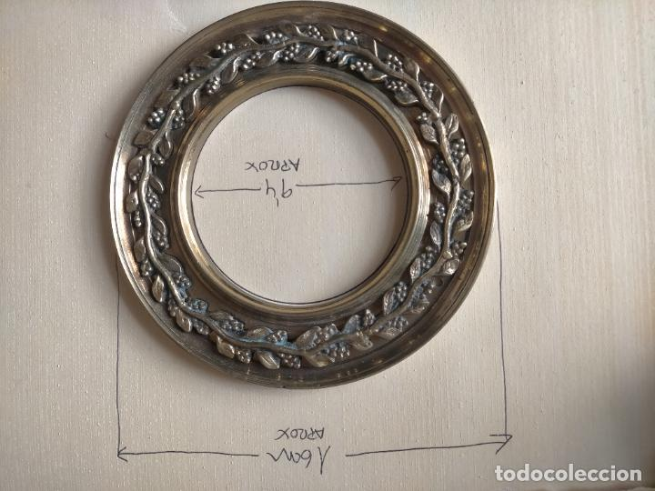 Antigüedades: 1 guanicion metal ideal torta bronce corona resplandor de virgen gran tamaño y grosor. semana santa - Foto 3 - 252380330