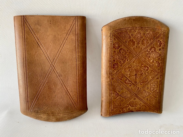 Antigüedades: Estuche de cuero repujado - Foto 4 - 256147280