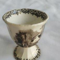 Antigüedades: HUEVERA DE CERÁMICA PICKMAN SIGLO XLX. Lote 256147910