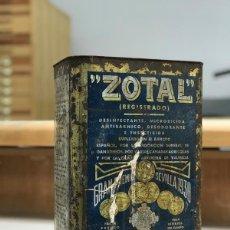 Antigüedades: BOTE LATA GRANDE ZOTAL CAMAS SEVILLA DESINFECTANTE 10 KILOS 325 PTAS. Lote 256152030