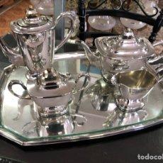 Antigüedades: JUEGO CAFE ALPACA. Lote 256154620