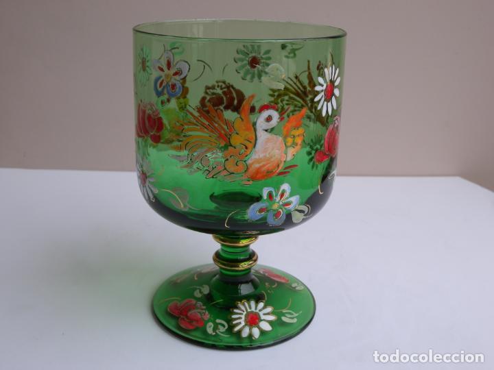 VIDRIO ESMALTADO - ROYO (Antigüedades - Cristal y Vidrio - Catalán)