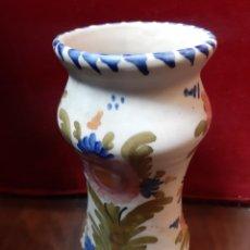 Antigüedades: ALBARELO DE FARMACIA FIRMADO TALAVERA 37 PINTADO A MANO / ALTURA 22 CMS (T1). Lote 256167335